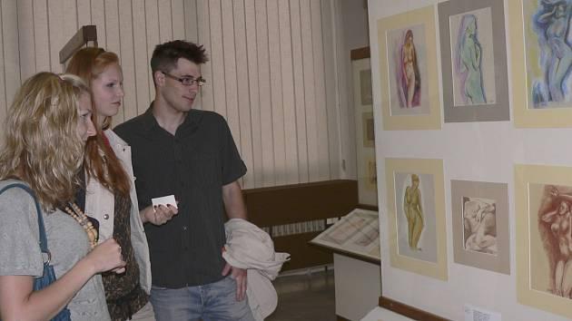 V programu výstav  písecké galerie Portyč byla také expozice  z tvorby Jozefa Švače.
