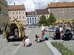Cvičení Mladých zdravotníků ČČK v Milevsku.