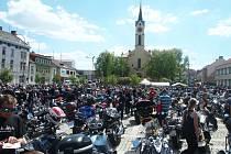 Setkání motorkářů v Milevsku.