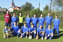 Fotbalisté TJ Podolí II (na snímku) remizovali v sobotním zápase okresního fotbalového přeboru v Oslově 1:1 a získali tak do tabulky jeden bod.