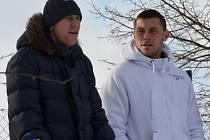 NOVÁ POSILA. Útočník Miroslav Slepička, který přichází do Písku, na snímku společně se záložníkem Táborska Alešem Kočím.