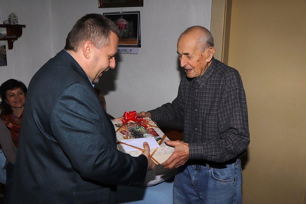 Karel Špala z Boješic u Mirovic slaví 99. narozeniny.