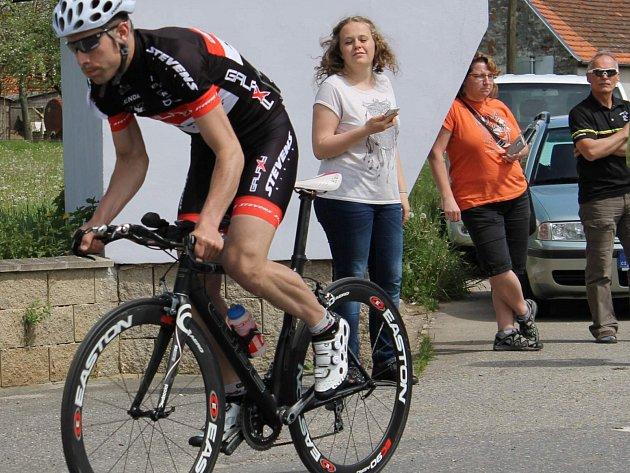 Cyklista písecké stáje Spartak Písek Galaxy CykloŠvec Stevens Lukáš Smola.