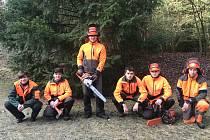 Studenti písecké lesnické školy.