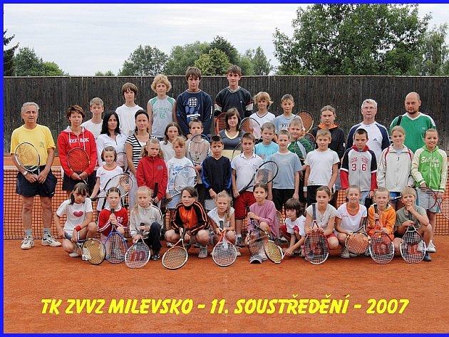 tenisový tábor pro 35 milevských nadějí