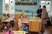 Začátek školního roku v ZŠ v Klukách.