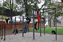 Otevření street workoutového hřiště.