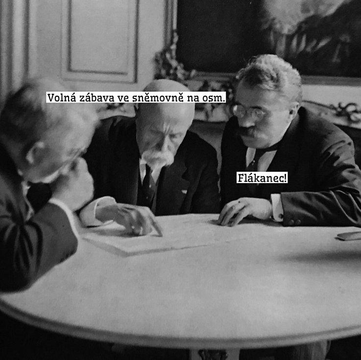 Český internet zaplavily okamžitě po incidentu ve sněmovně ve čtvrtek 21. ledna vtipy a humorné koláže.