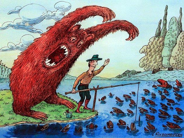 Vtip z devátého mezinárodní bienále kresleného humoru.