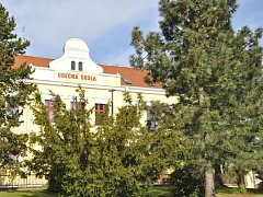 Čížová, budova školy. Ilustrační foto