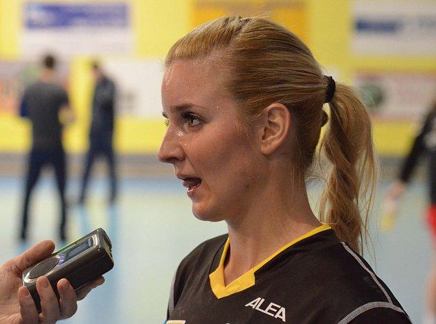 Písecká házenkářka Marta Krouská vstřelila v interligovém zápase proti Nitře-Sereď jubilejní padesátou branku.
