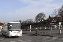 Autobusové nádraží v Milevsku.