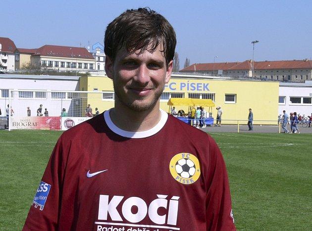 Petr Jendruščák vstřelil první gól svého týmu v minulém utkání ČFL Písek - Jablonec B a přispěl tak k vítězství jihočeského týmu v poměru 4:1.
