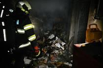 Požár kotelny rodinného domu v Milevsku.