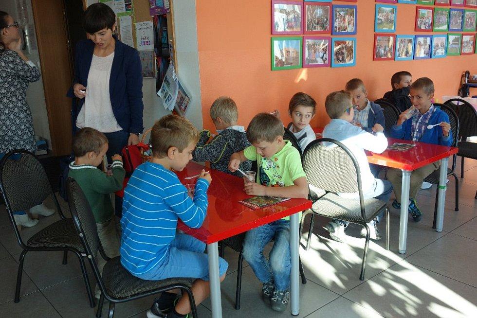 První den školního roku v soukromé církevní  ZŠ Cesta Písek.