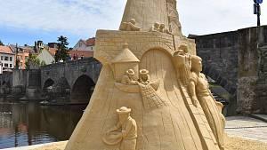 Sochy z písku v Písku 2020