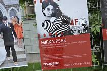 Svatební smínky americké fotografky českého původu Mirky Psak na nádvoří  Sladovny v Písku.