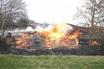 Požár v Borovanech.