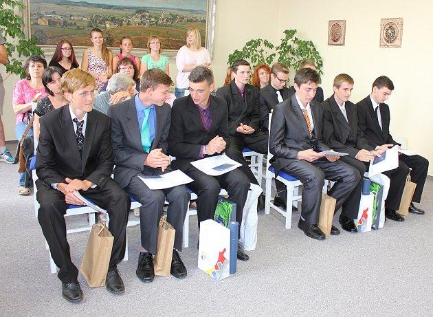 Vyhodnocení soutěže Nejlepší učeň roku v Milevsku.
