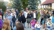 Zahájení školního roku v ZŠ Záhoří 8. září 2014.