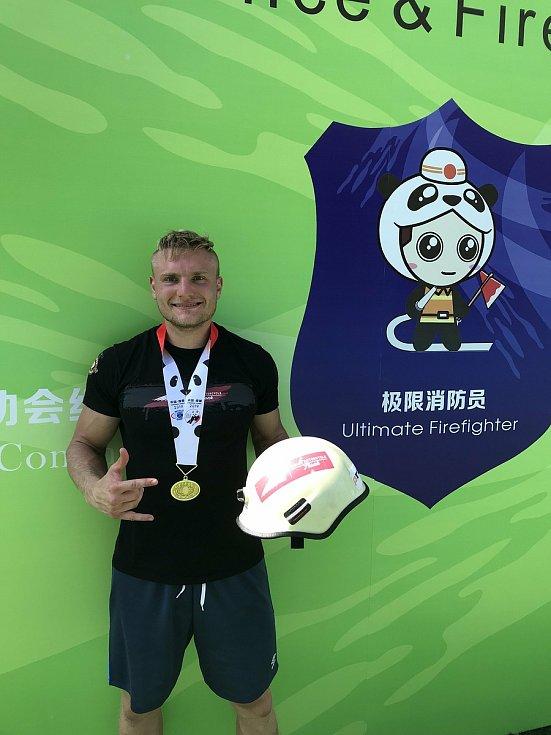 Michal Brousil na světových hrách v Číně.
