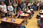 První školní den v 1. ZŠ T. G. Masaryka Milevsko.