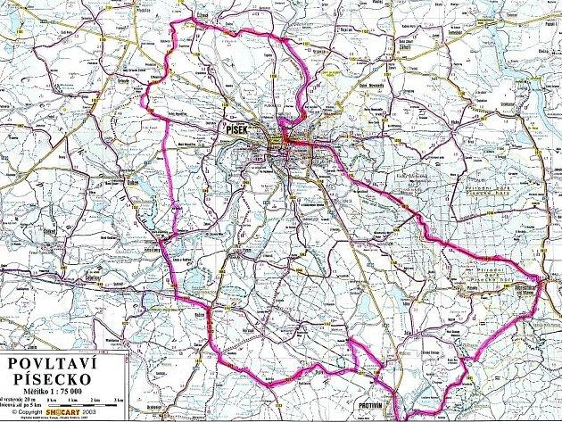 Vyznačení trasy pro novou 75 km dlouhou cyklostezku, která cykloturisty zavede na zajímavá místa Písecka.