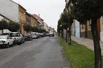 Jeronýmova ulice před rekonstrukcí.