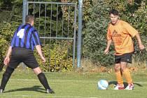 Okresní fotbalové soutěže pokračovaly o víkendu dalšími zápasy. Náš snímek je z nedávného utkání III. třídy mužů Sokol Záhoří B - SK Oslov.