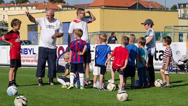 Nábor malých fotbalistů v FC Písek.