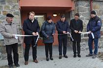 Otevření nových bytů na Nábřeží 1. máje v Písku.