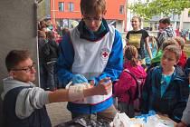 Světový den první pomoci v podání píseckého červeného kříže.