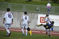 Snímkem se vracíme k nedávnému utkání šestadvacátého kola České ligy dorostu U19 v kopané, ve kterém Písek podlehl Doubravce 0:1.