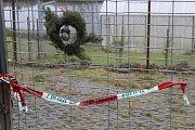 Mobilheim nedaleko Dobešic, kde byl zavražděn manželský pár.