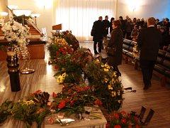 Pohřeb bývalého starosty Písku (1990-1998) Toma Zajíčka na Lesním hřbitově v Písku.