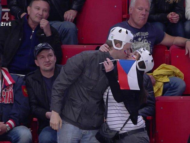 Čeští fanoušci ve švédském Stockholmu