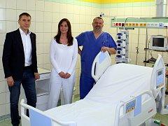 Nemocnice Písek získala odměnou lůžko pro hospitalizované pacienty.