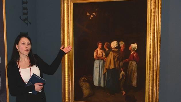 Obraz Modlitba za oběšence český malíř Hippolit Soběslav Pinkas namaloval v Paříži v letech 1859 až 1861