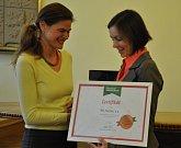 Předání bronzového certifikátu pro Centrum Fazole