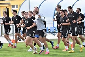 První společný trénink fotbalistů FC Písek.