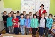 Prvňáci ze Základní školy Čimelice.