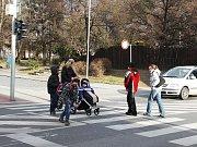 Křižovatka u ZŠ Jana Husa Písek, kde se 16. září stala nehoda.