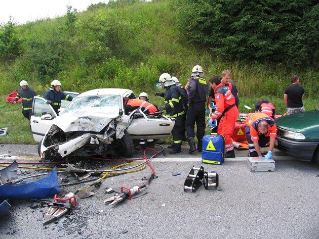 Úterní nehoda u Protivína.