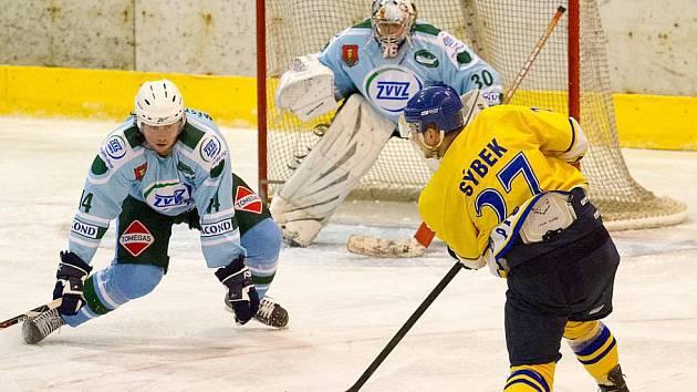 DERBY. Hokejisté Milevska a Písku letos spolu hrají v krajské hokejové lize.