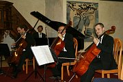 Prague Cello Quartet v písecké Trojici.