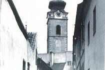 Pohled do Hradební II v Písku ve třicátých letech minulého století.