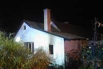 Rodinný dům ve Chvaleticích zasáhl požár.