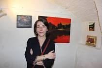 Vernisáž výstavy Denisy Cirmaciové v Galerii M.