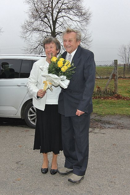 Manželé Václav a Jarmila Čečelovských oslavili zlatou svatbu.