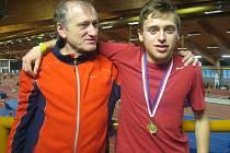 Ondřej Kohout se svým trenérem Miroslavem Zachariášem